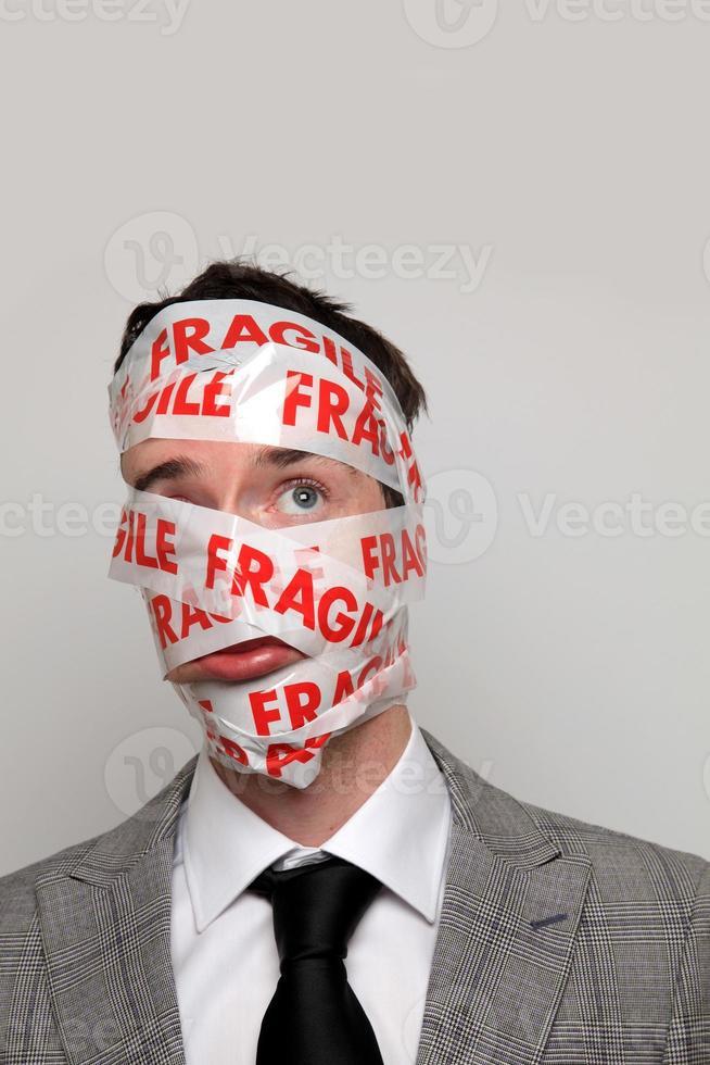 uomo d'affari fragile foto