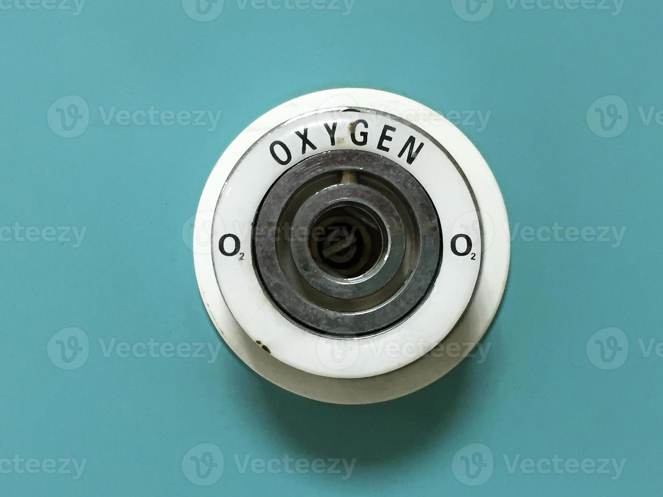 pipeline di ossigeno nella stanza del paziente foto