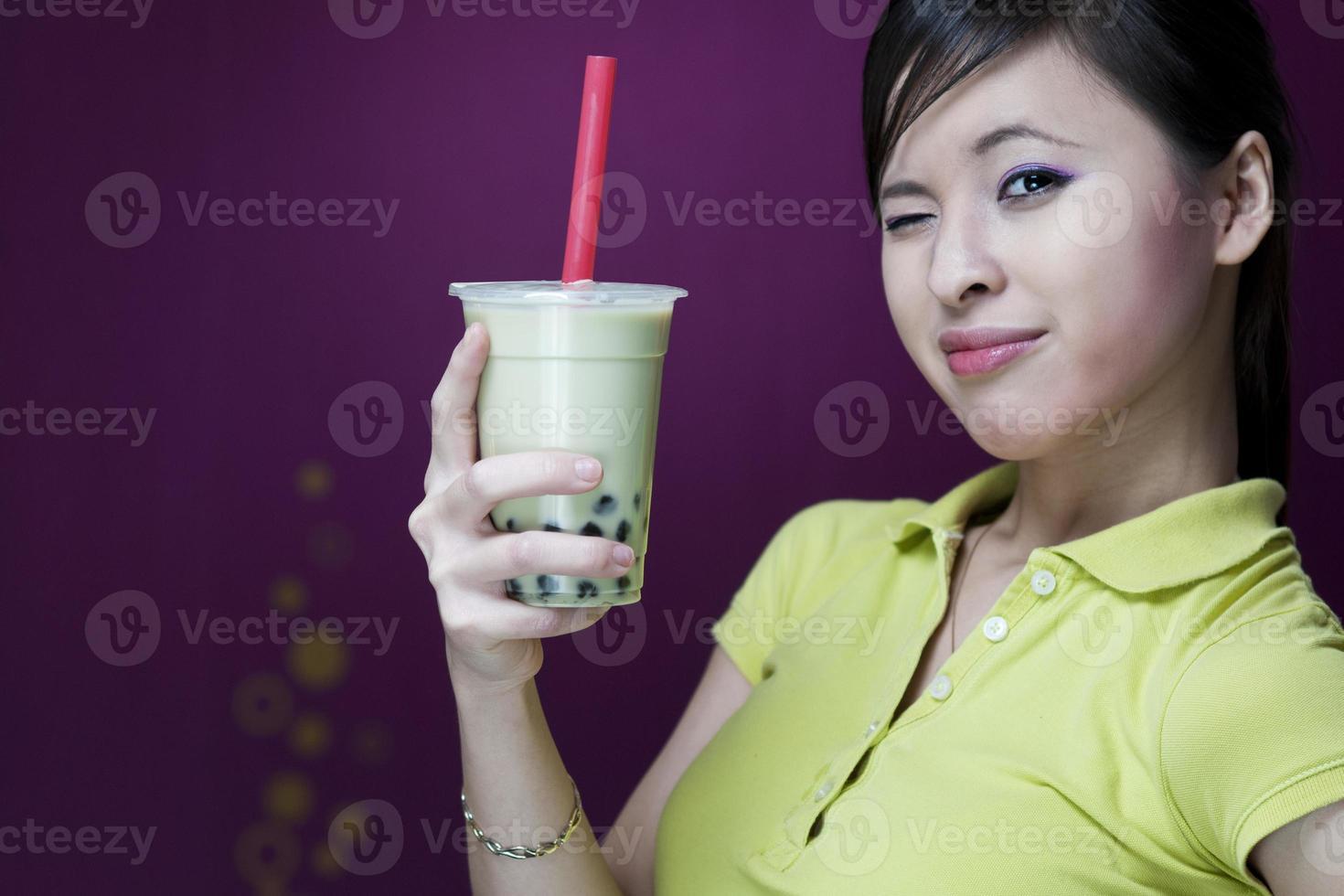 così bello con il tè a bolle foto