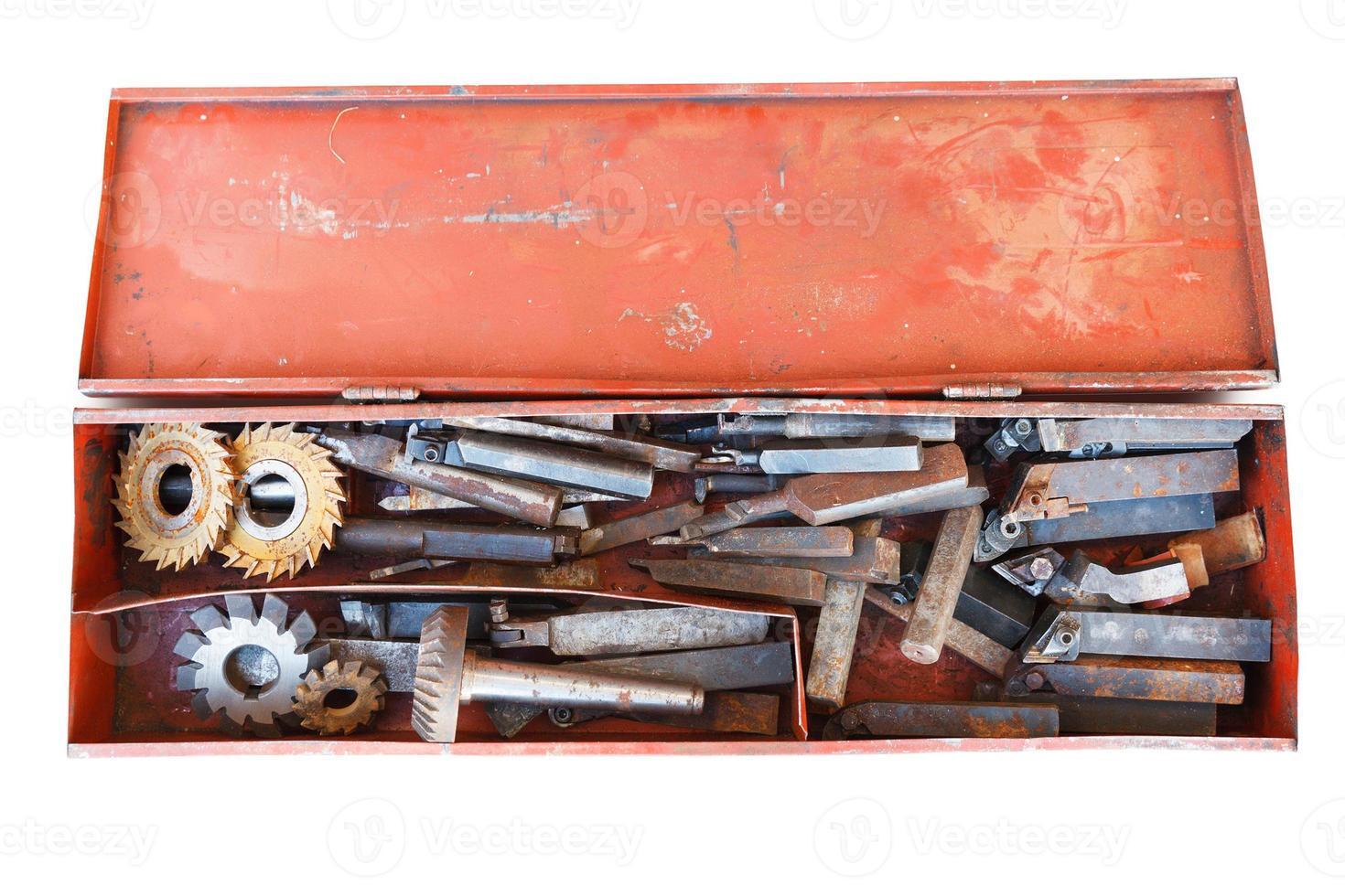 vecchi strumenti di tornitura foto