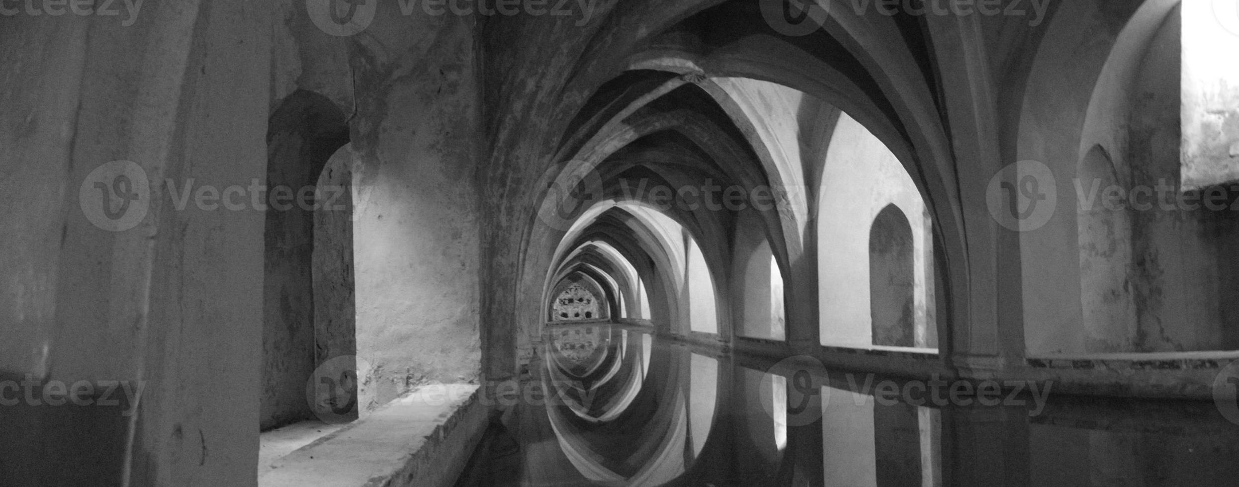 bagno arabo in bianco e nero foto