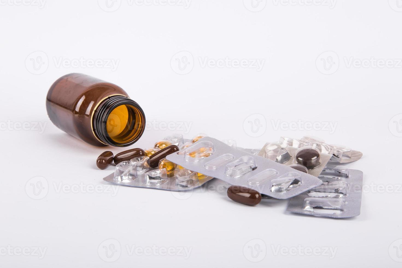 bottiglia medica marrone foto