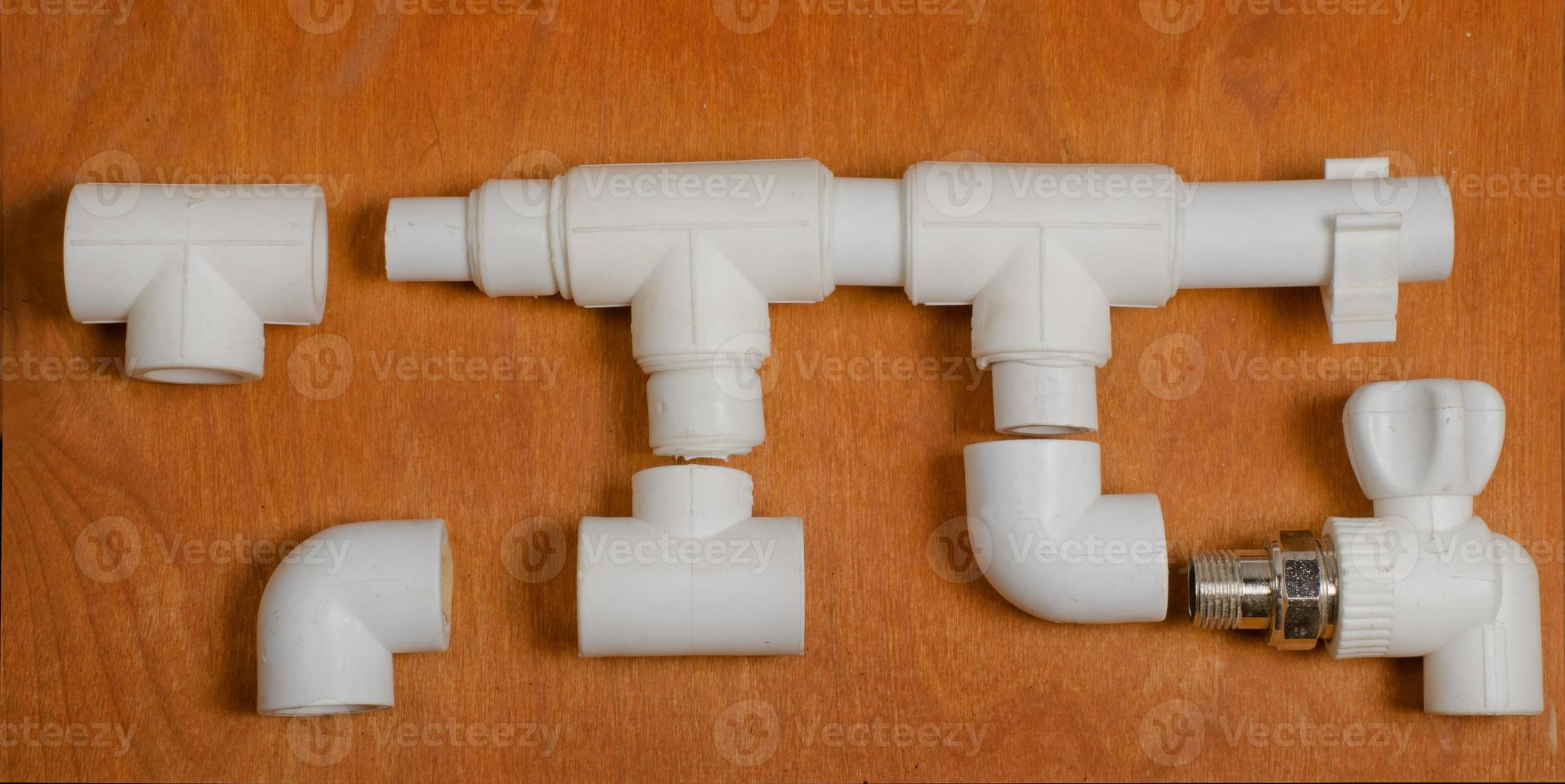 lo schema di un sistema di approvvigionamento idrico in polipropilene foto