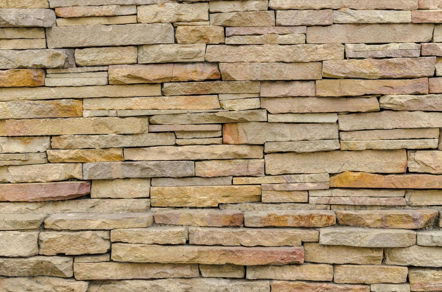 modello del moderno muro di mattoni emerse foto