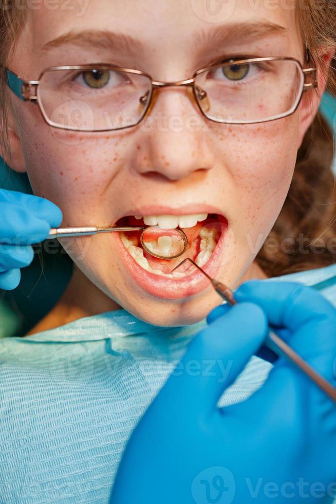 esame dal dentista foto