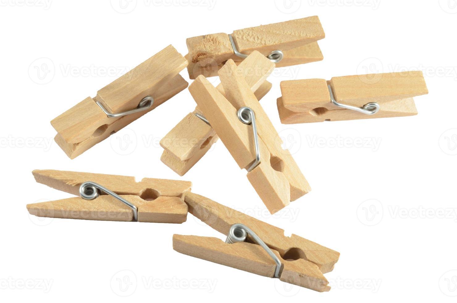 mollette di legno foto
