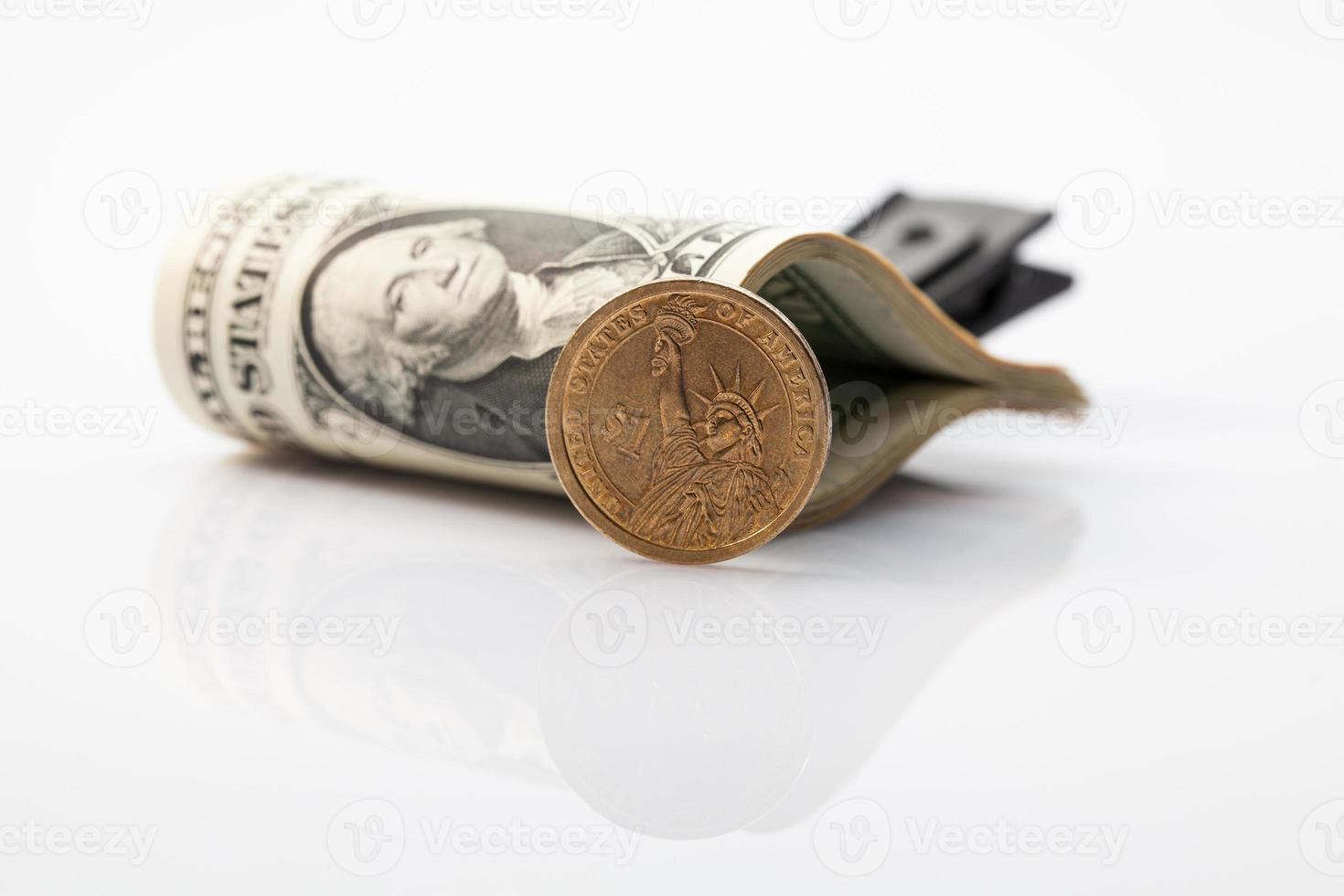 pacchetto di banconote da un dollaro americano foto