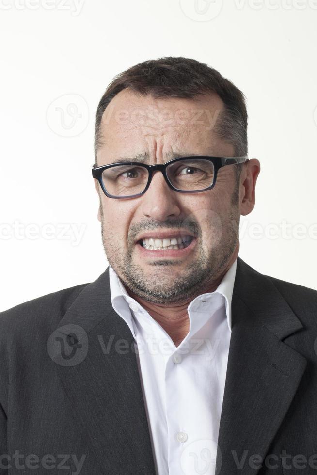 uomo corporativo preoccupato ansioso foto