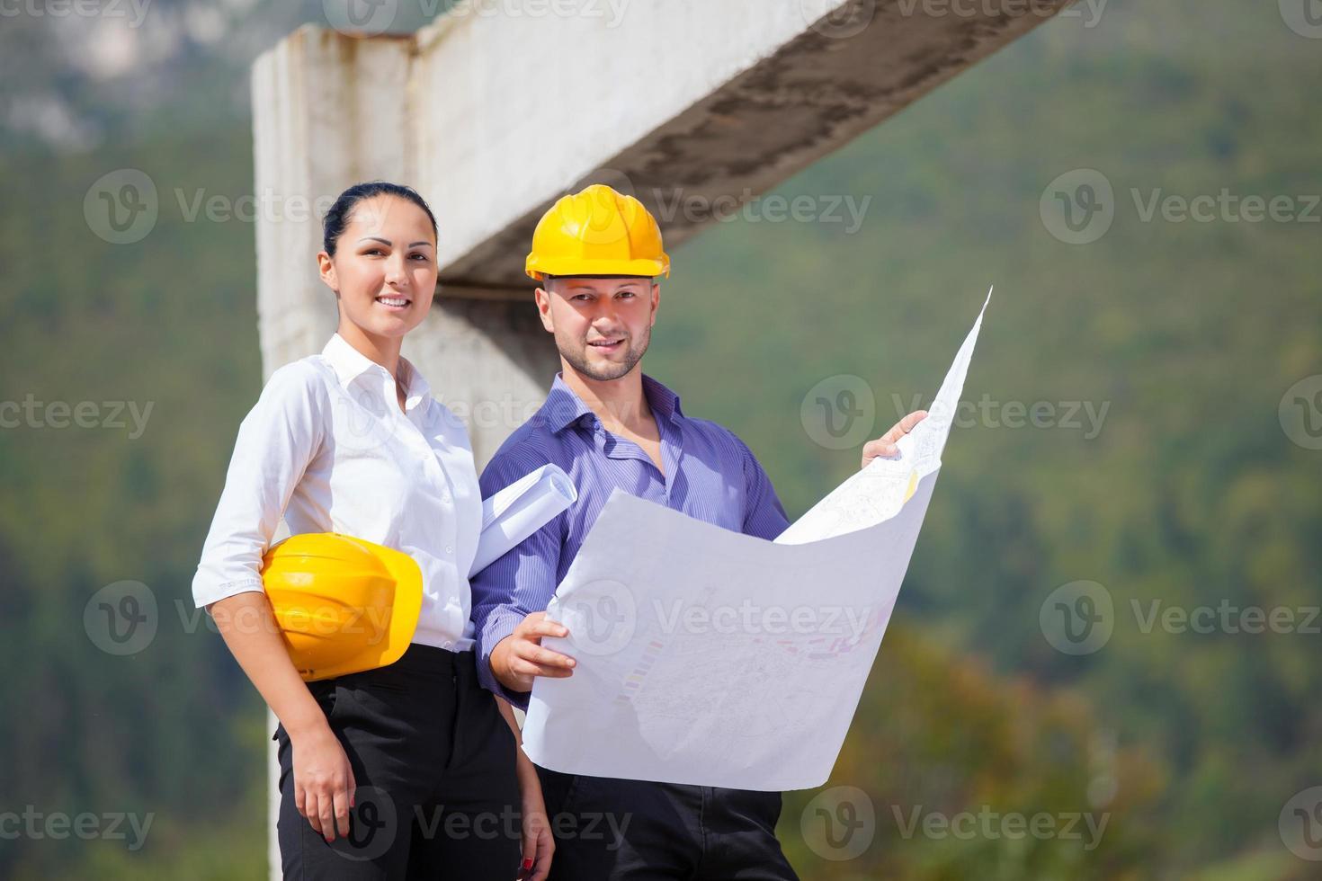 architetto responsabile della costruzione foto