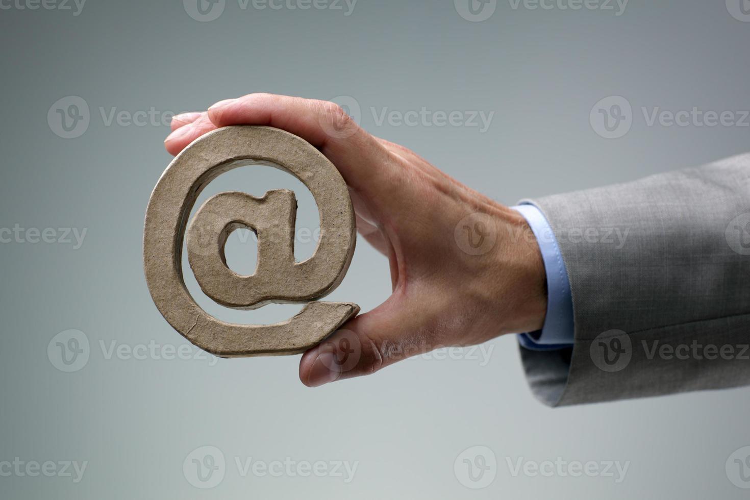simbolo e-mail @ foto
