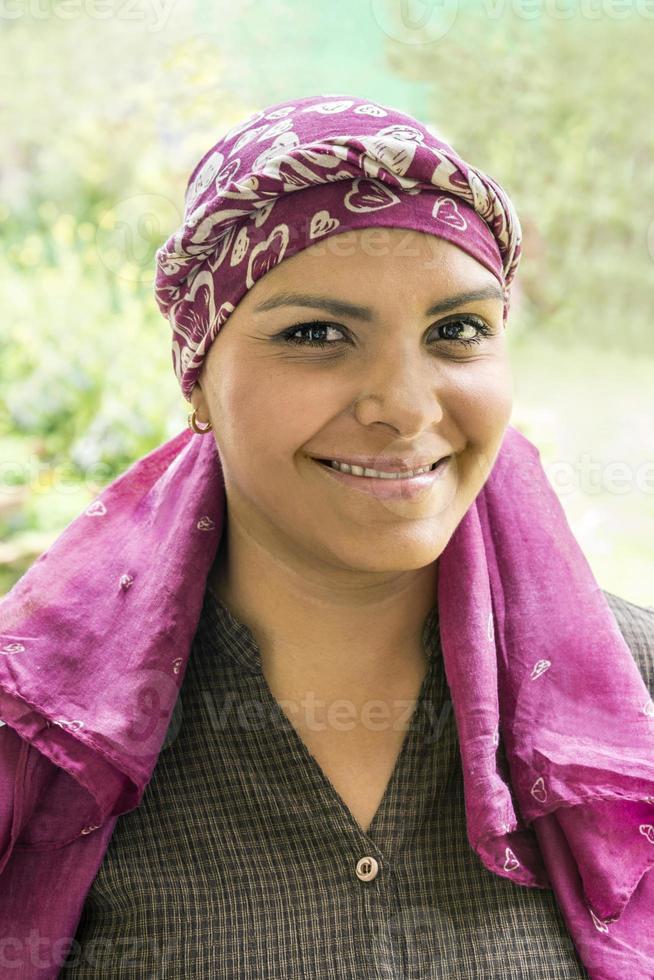 coraggioso malato di cancro latino foto