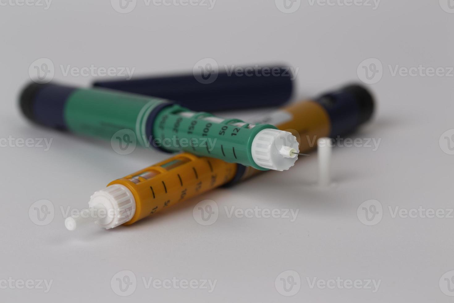 penna per siringa da insulina foto