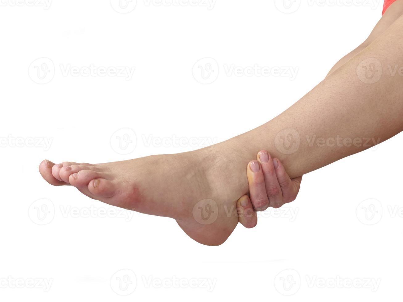 dolore acuto alla caviglia. foto