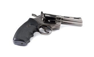 pistola giocattolo 357 magnum revolver su sfondo bianco