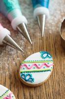 decorazione di biscotti pasquali foto
