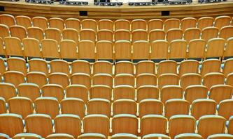 poltrone nell'auditorium foto