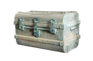 antica cassa di metallo