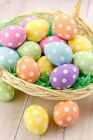 uova di Pasqua e cestini