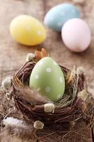 uovo di Pasqua verde foto