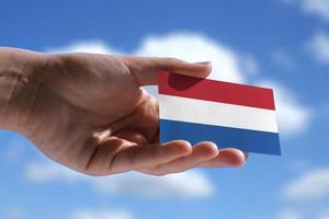 piccola bandiera olandese foto