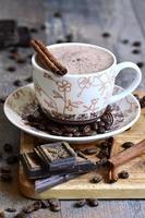 zabaione al cioccolato al caffè.