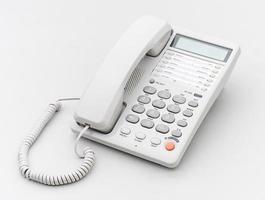 telefono dell'ufficio lo strumento di collegamento isolato foto