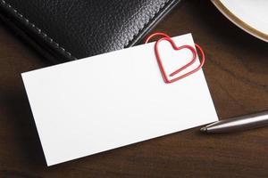 concetto di relazione sul posto di lavoro romantico foto