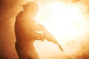 operatore russo delle forze speciali foto