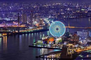 paesaggio urbano di Osaka foto