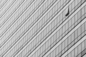 trama di vetro bianco e nero trasparente di finestre moderne foto