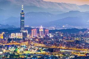 skyline di Taipei