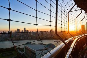 la vista del cityscpe dall'edificio moderno foto