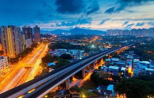 notte di Hong Kong foto
