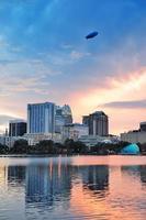 Orlando tramonto sul lago Eola