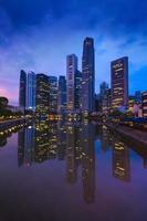 skyline della città di Singapore.