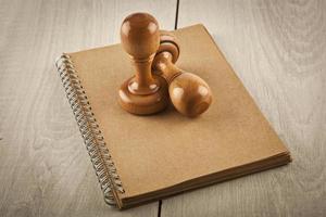 francobolli e immagine stock notebook foto