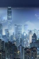 città nebbiosa foto