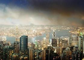isola di Hong Kong dalla cima di Victoria foto