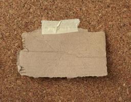 marrone vecchia nota di carta foto