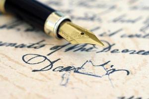 vecchia lettera