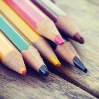 matite colorate vecchio stile vintage retrò foto