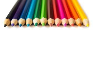 numero di matite colorate foto