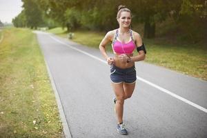 fare jogging è la mia routine mattutina foto
