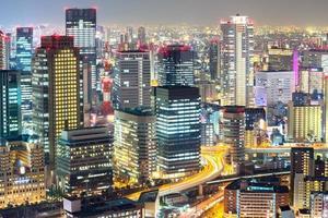 skyline di Osaka foto
