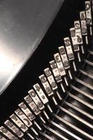 lettere della macchina da scrivere foto