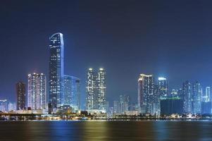paesaggio urbano di Hong Kong foto