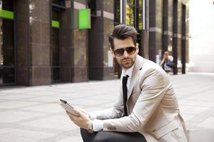 moderno giovane imprenditore foto