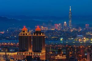 skyline della città di taipei foto