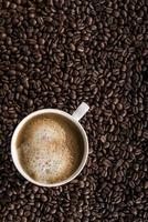 tazza di caffè espresso fresco foto