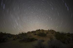 deserto del mojave notte della stella polare foto